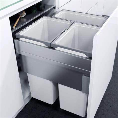 Bins For Kitchen Cupboards by Vauth Sagel Bin In Cupboard Recycler 85l Binopolis