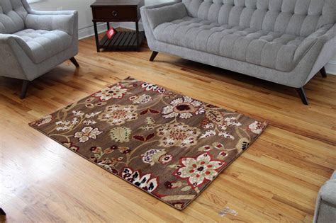 Bamboo Rugs 8x10 by 1023 Brown Burgundy Beige Rust Area Rugs Floral Carpet 2x3