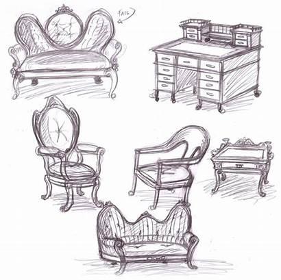 Furniture Sketches Victorian Easy Deviantart Office Sketch