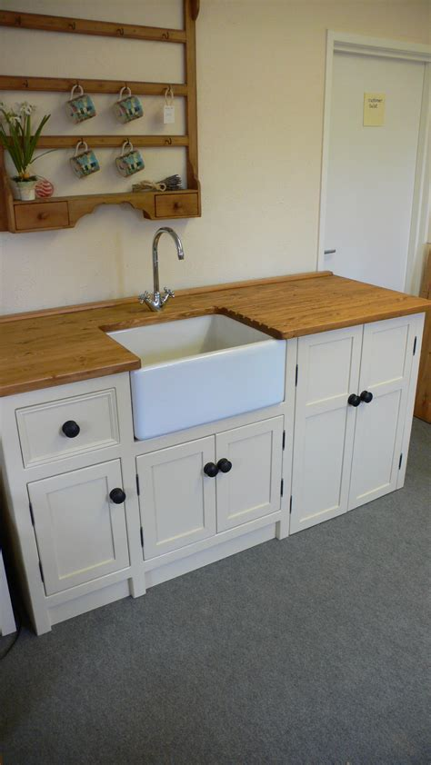 Belfast Sink Unit with Freestanding Appliance Cupboard