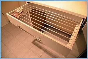 Wäscheständer Badewanne Ikea : diy w schest nder gebaut in einer ikea schublade diy drying rack built in an ikea drawer ~ Eleganceandgraceweddings.com Haus und Dekorationen