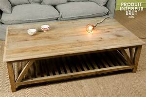 Table Basse Boheme : table basse cadynam meuble rustique grande taille et cachet du bois ancien ~ Teatrodelosmanantiales.com Idées de Décoration