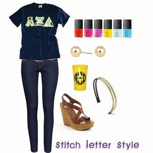 64 best chapter fashions images on pinterest sorority With alpha xi delta stitched letters
