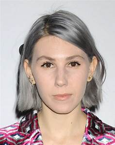 Haare Grau Farben Junge Frau