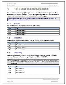 Business requirements specification template ms word for High level business requirements document template