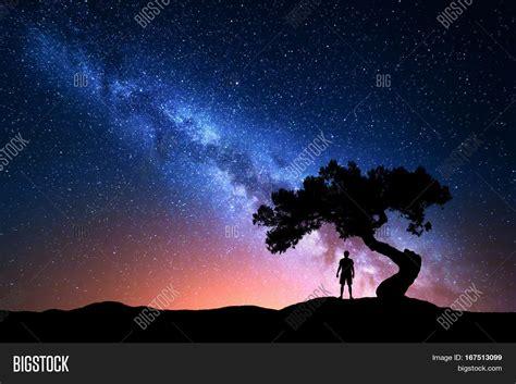 Milky Way Night Sky Image And Photo Free Trial Bigstock