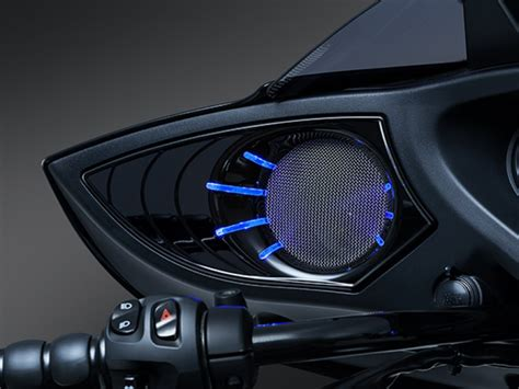 victory motorcycle chrome led lighted speaker grill cross