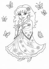Coloring Gypsy Cassandra Colorkid Princesses sketch template