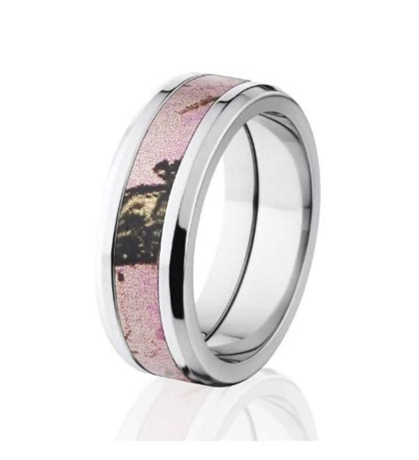mossy oak pink camo wedding ring jewelry camo wedding camo wedding bands