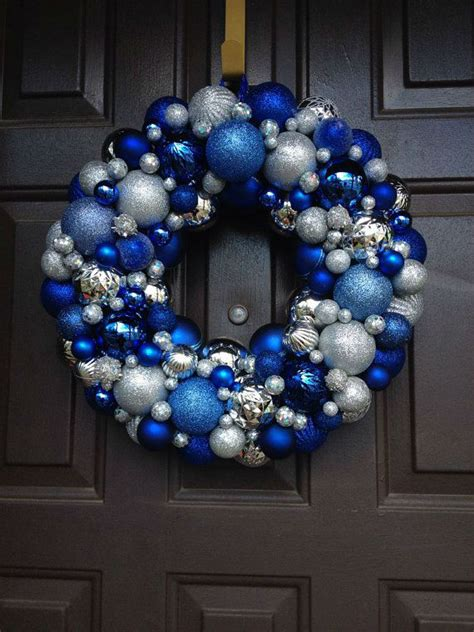 dazzling blue  silver christmas decorating ideas