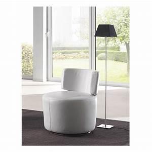 Fauteuil Cuir Blanc : fauteuil cuir blanc lady las salotti ~ Melissatoandfro.com Idées de Décoration