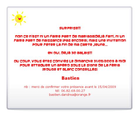 Invitation Anniversaire Surprise Invitation Anniversaire Adulte