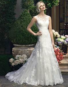 Imh181 e marry a line lace tulle scoop sleeveless lace for Casablanca a line wedding dress