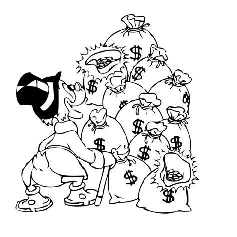 Kleurplaat Geld by Leuk Voor Dagobert Duck Met Zijn Geld