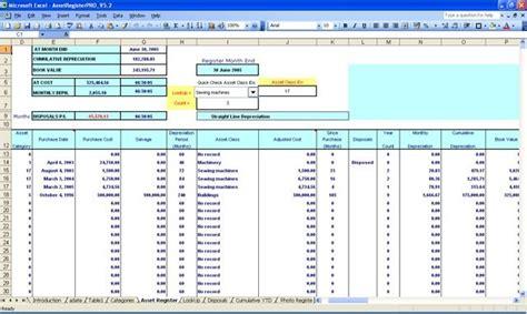 asset register pro  excel   asset