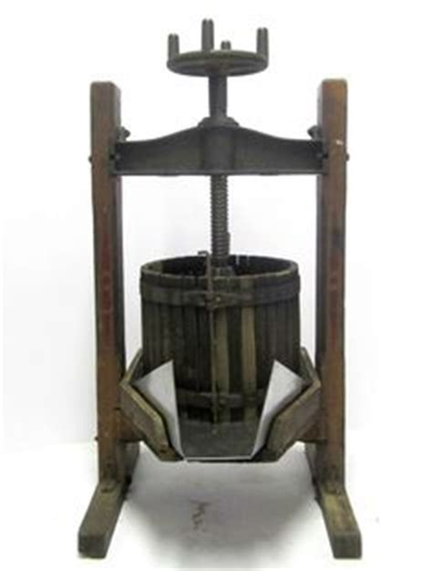 Large Heavy Antique Vtg Fruit Crusher Wine Making Grape Grinder Primitive Folk   Wine, Folk and