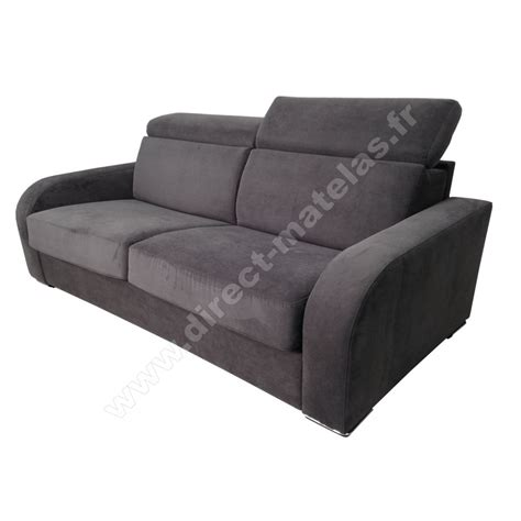 canape convertible tissu gris maison design modanes com
