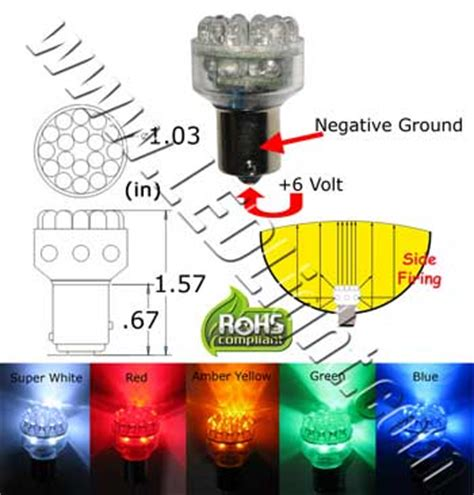 6 volt led lights s25 24 led light 6 volt dc 360 dimmable 360 degree viewing