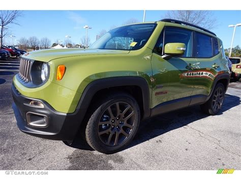 green jeep renegade 2016 jungle green jeep renegade 75th anniversary