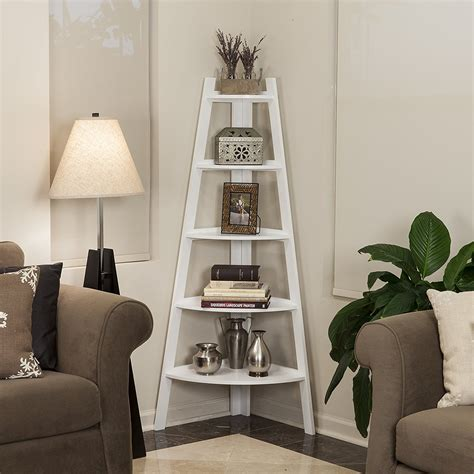 top  amazing corner ladder shelves   homeoffice