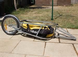 Single Wheel Bicycle Cargo Trailer