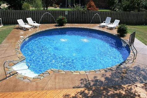 round above ground pools with decks outdoor decore