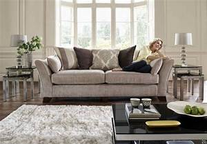 3 seater classic back sofa annalise upholstered With furniture village living room chairs