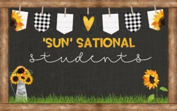 sunflower bulletin board  falling   grade tpt