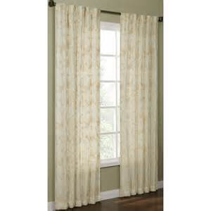 shop allen roth elmbridge 63 in polyester back tab light filtering single curtain panel at