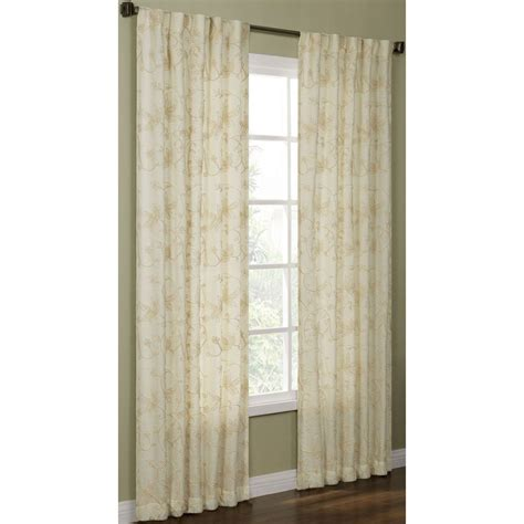 allen roth oberlin curtains shop allen roth elmbridge 63 in polyester back tab light