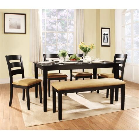 Dining Room: appealing black kitchen table set Kitchen