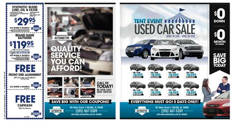 Automotive Dealership And Service Direct Mail Advertising