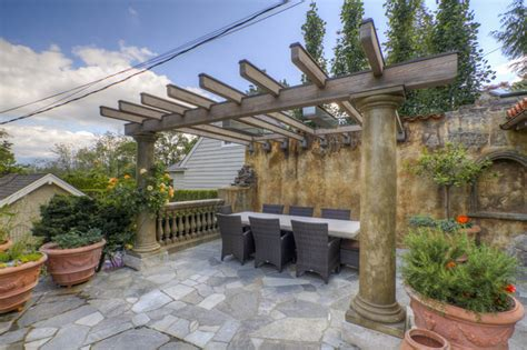 Tuscan Decorating Ideas For Patio by Tuscan Outdoor Kitchen Mediterranean Patio Vancouver