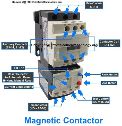 Magnetic Contactor Wiring Diagram by Characteristics Of Electrical Contactors Electric