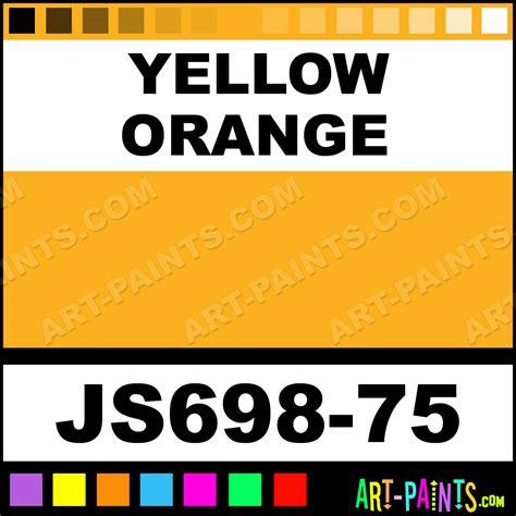 yellow orange artists colors acrylic paints js698 75