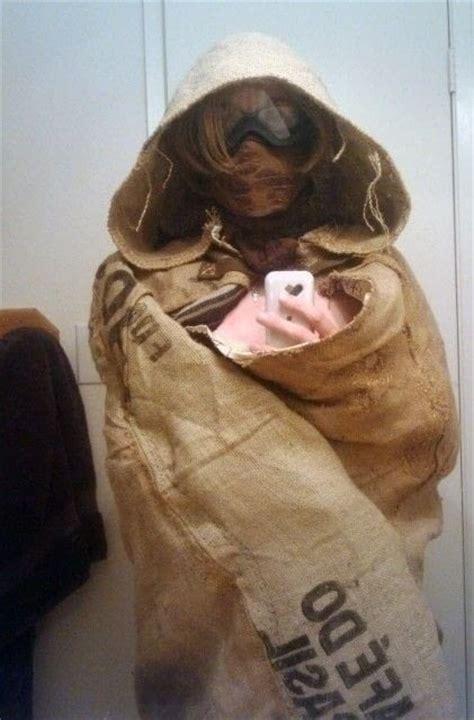 burlap hooded cloak  cape cloak dressmaking  cut