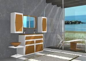 Badmöbel Mit Waschbecken : badm bel mit waschbecken modular lackiert idfdesign ~ Orissabook.com Haus und Dekorationen
