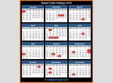 Sabah Malaysia Public Holidays 2018 – Holidays Tracker