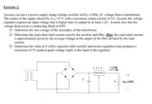 Solved Assume You Have Power Supply Using Bridge Rect