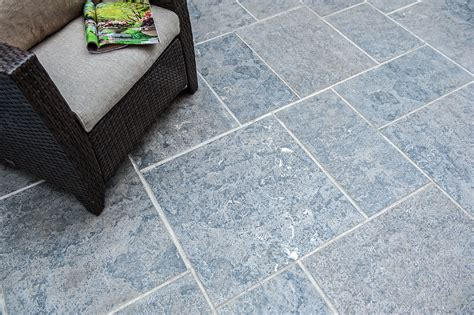 imported silver grey flamed square cut flagstone pavers