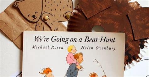 easy bear hunt activities  printables pink
