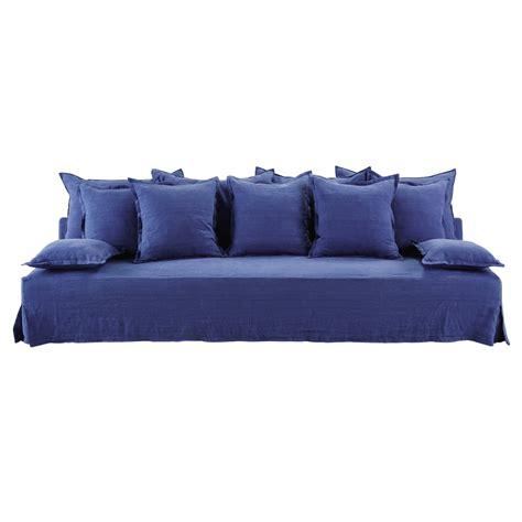 canape bleu indigo canap 233 4 places en bleu indigo alberto lelogisdelagrange