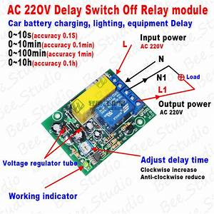 Ac 220v 230v Delay Timing Timer Delay Switch Turn Off