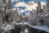 Half Dome Yosemite National Park Winter