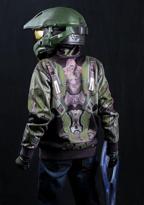 child halo master chief costume hoodie
