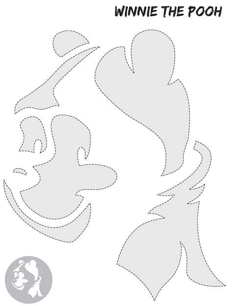 Winnie The Pooh Pumpkin Carving Templates by Single Mummy One In A Million Free Pumpkin Stencils