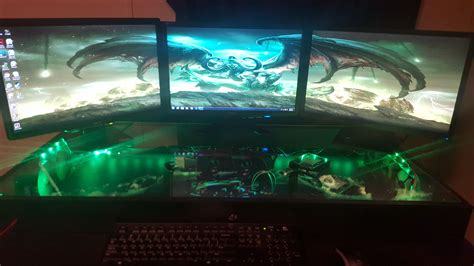 custom built gaming desk pc gaming desk hand built custom gaming desk pc