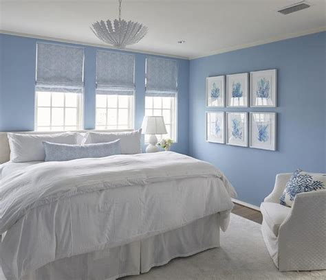 Blue Paint For Bedroom by White And Blue Cottage Bedroom Boasts Walls Painted