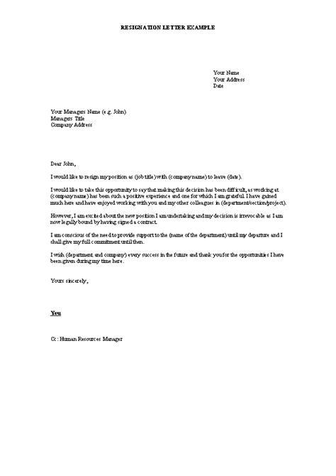 Formal Resignation Letter Template Word - PDFSimpli