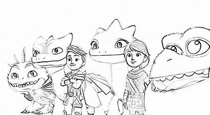 Riders Rescue Coloring Dragons Dreamworks Netflix Pages